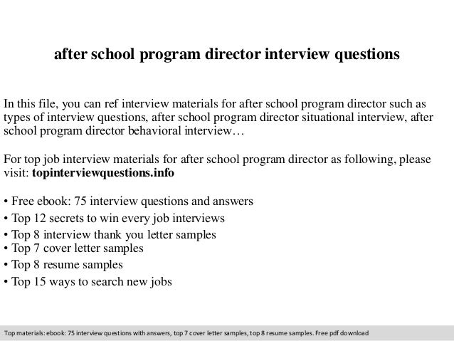 After school program director interview questions 1 638gcb1409870695 after school program director interview questions in this file you can ref interview materials for altavistaventures Images