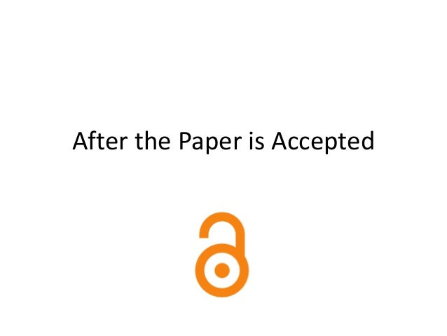 After the Paper is Accepted