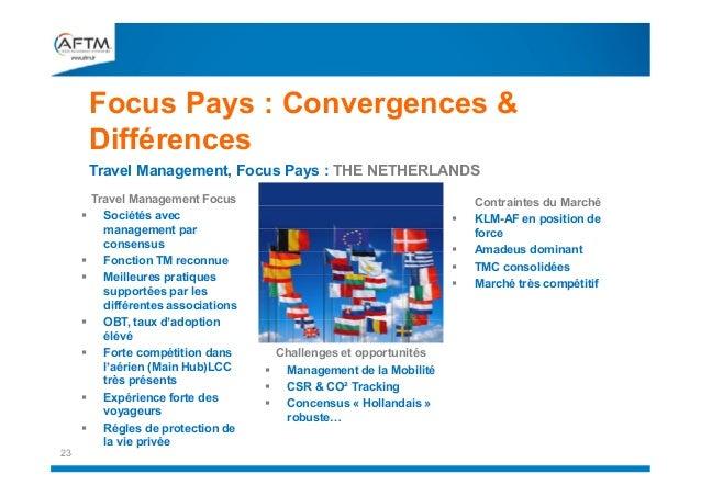 Focus Pays : Convergences & Différences Travel Management, Focus Pays : THE NETHERLANDS           23  Travel Manage...