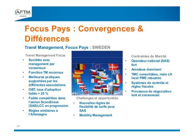 Focus Pays : Convergences & Différences Travel Management, Focus Pays : SWEDEN           24  Travel Management Focus...