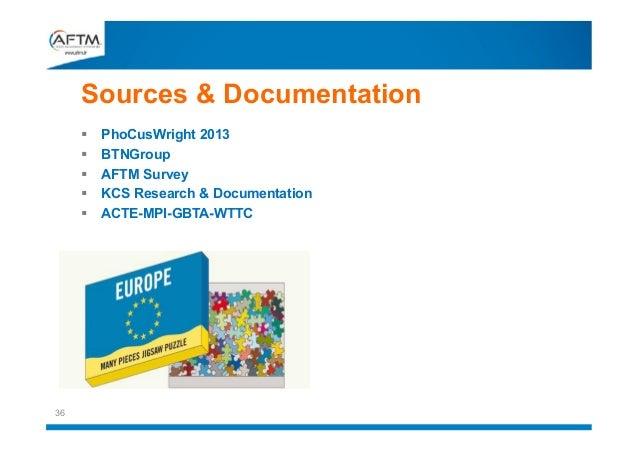 Sources & Documentation       36  PhoCusWright 2013 BTNGroup AFTM Survey KCS Research & Documentation ACTE-MPI-GBTA-W...
