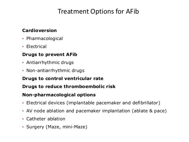 nonpharmacological treatment of atrial fibrillation