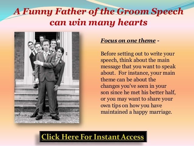 A Funny Father Of The Groom Speech Can Win Many Hearts