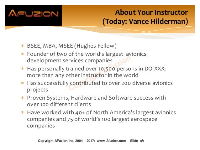 About Your Instructor (Today: Vance Hilderman)  BSEE, MBA, MSEE (Hughes Fellow)  Founder of two of the world's largest a...