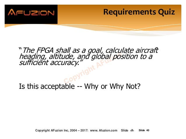 """Slide 40 """"The FPGA shall as a goal, calculate aircraft heading, altitude, and global position to a sufficient accuracy."""" I..."""