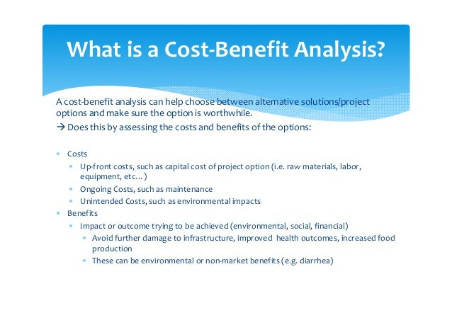 Incorporating CostBenefit Analysis Into Af Project Proposals Exampl