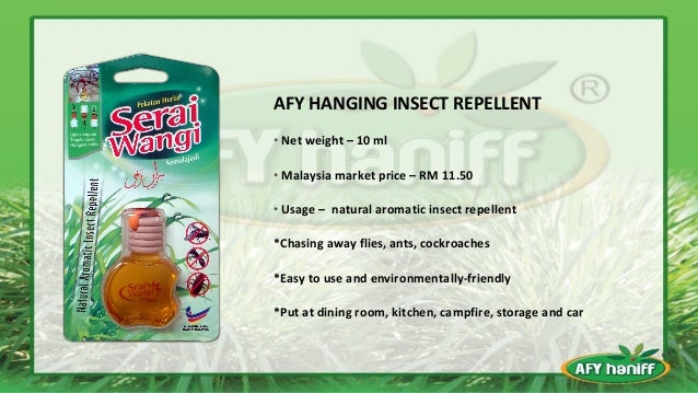 ... 10. AFY HANGING INSECT REPELLENT ...