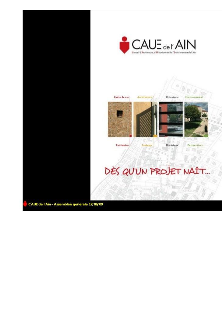 CAUE de l'Ain - Assemblée générale 17/06/09