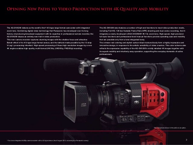 Panasonic AG DVX200 Slide 3