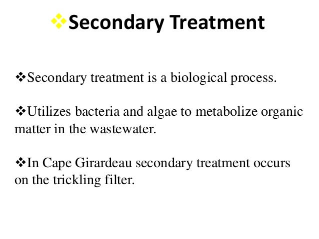 Difference Between Primary and Secondary Treatment of Wastewater