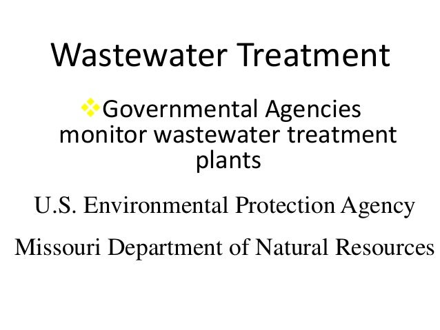 Missouri Department Of Natural Resources Wastewater