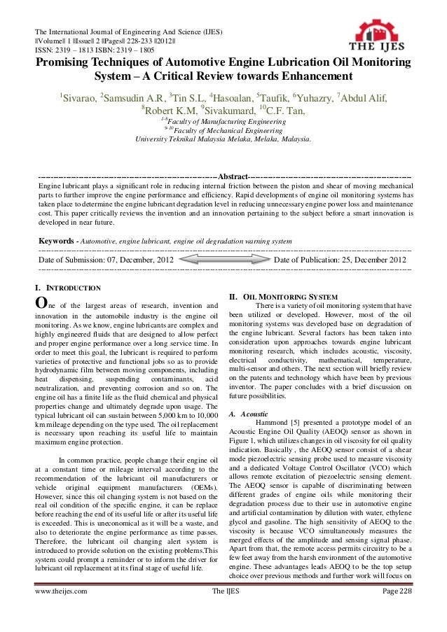The International Journal of Engineering And Science (IJES)||Volume|| 1 ||Issue|| 2 ||Pages|| 228-233 ||2012||ISSN: 2319 –...