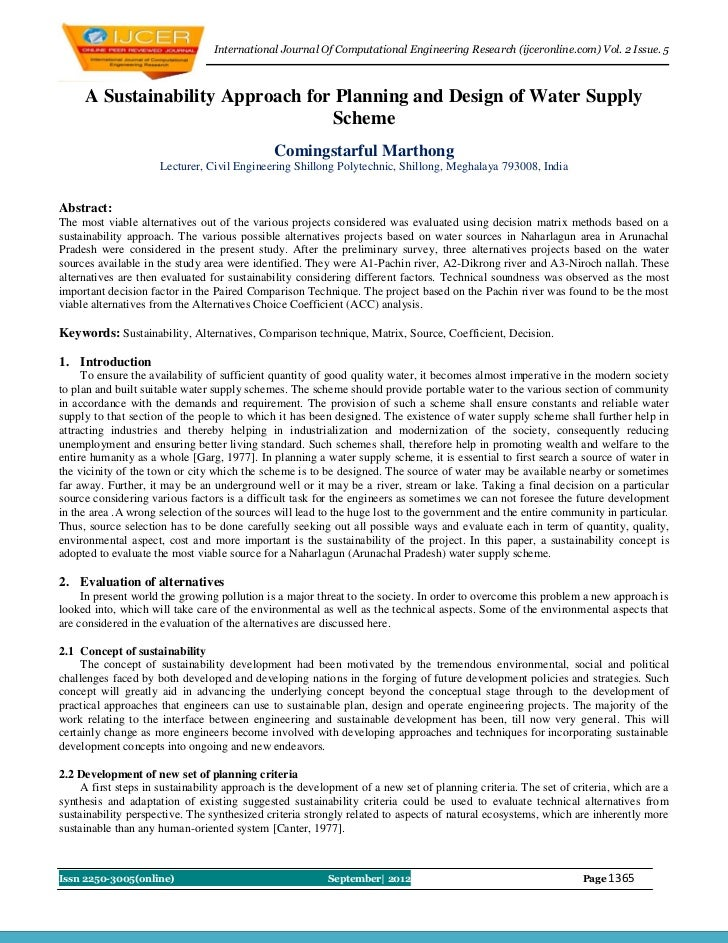 International Journal Of Computational Engineering Research (ijceronline.com) Vol. 2 Issue. 5     A Sustainability Approac...