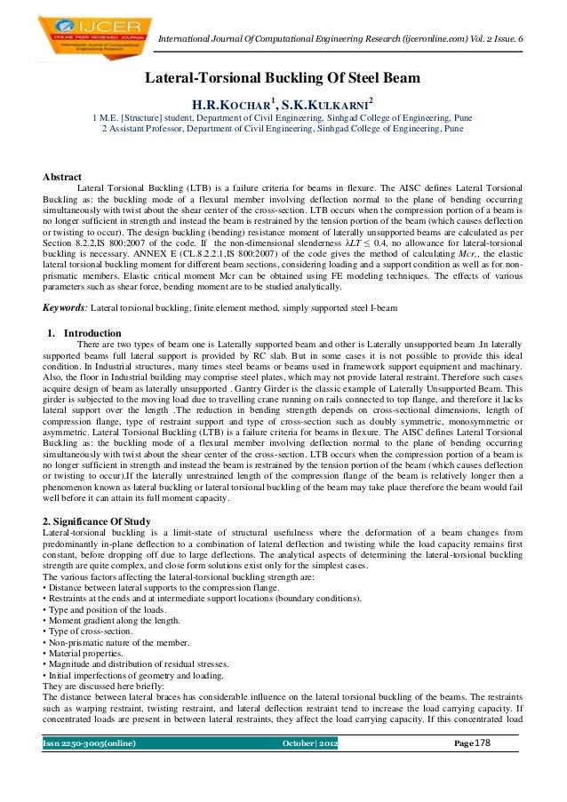 International Journal Of Computational Engineering Research (ijceronline.com) Vol. 2 Issue. 6                           La...