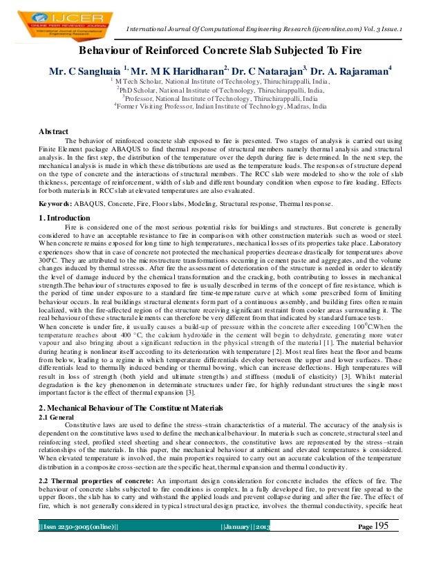 I nternational Journal Of Computational Engineering Research (ijceronline.com) Vol. 3 Issue. 1              Behaviour of R...