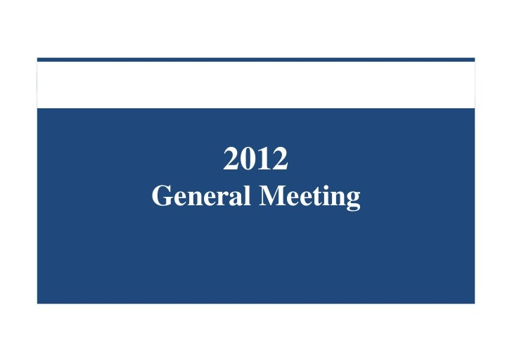 2012General Meeting