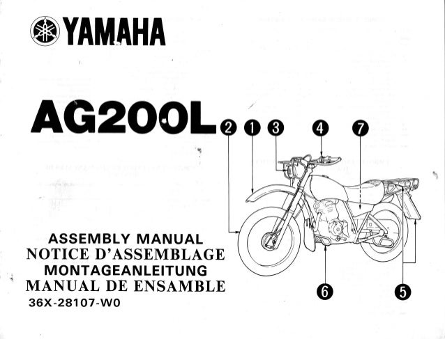 Yamaha AG200L assembly manual