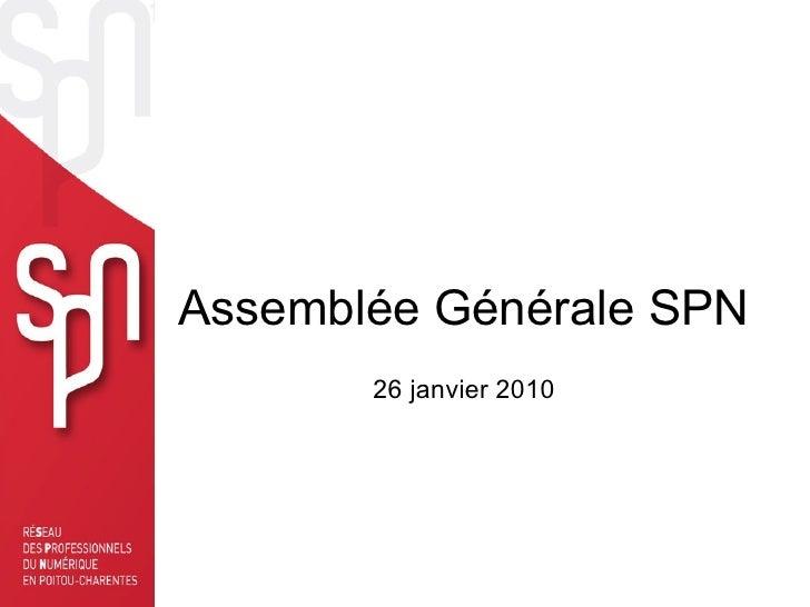 Assemblée Générale SPN 26 janvier 2010