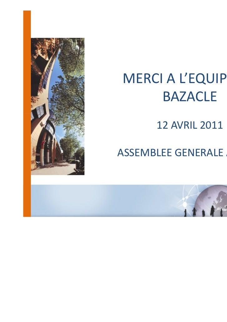 Assemblée Générale 2011