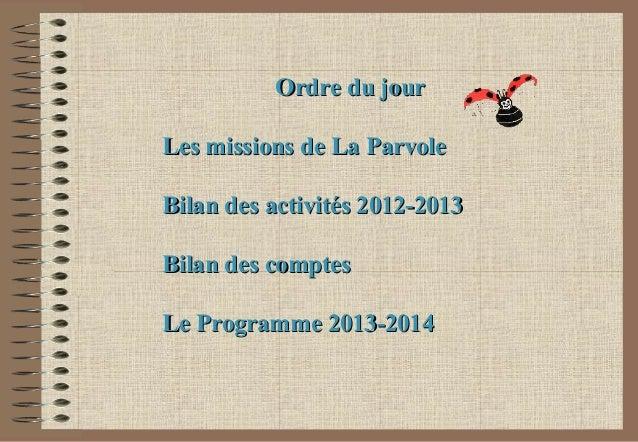 AG 2013 - La Parvole Slide 2