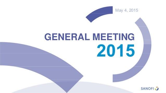 May 4, 2015 GENERAL MEETING