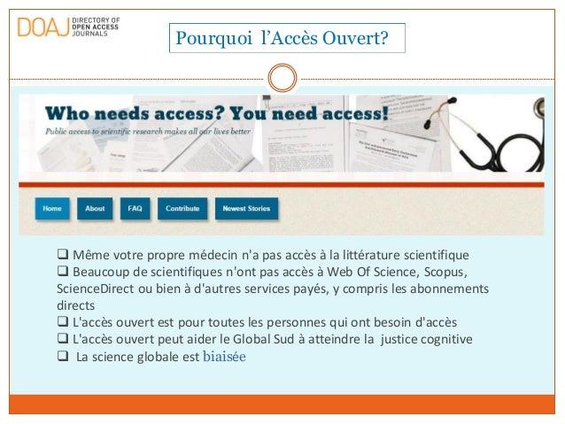 Mission DOAJ, Promouvoir l'accès ouvert à travers le monde Slide 2