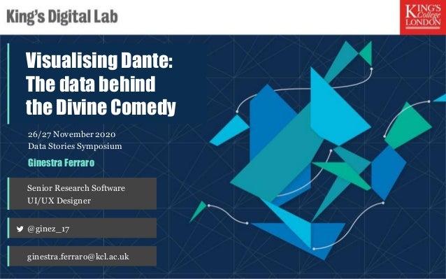 "Data Stories, ""Visualising Dante - The data behind the Divine Comedy"", Ginestra Ferraro, King's Digital Lab, London, 27 No..."