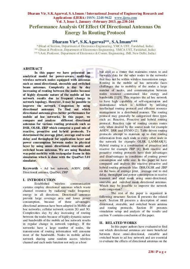 Dharam Vir, S.K.Agarwal, S.A.Imam / International Journal of Engineering Research and                  Applications (IJERA...