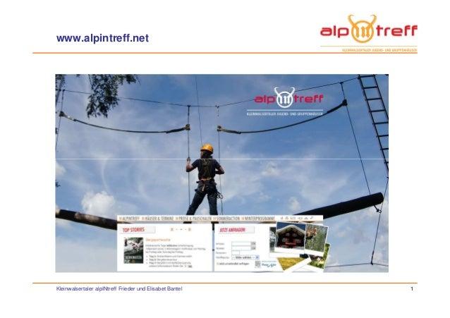 www.alpintreff.net Kleinwalsertaler alpINtreff Frieder und Elisabet Bantel 1