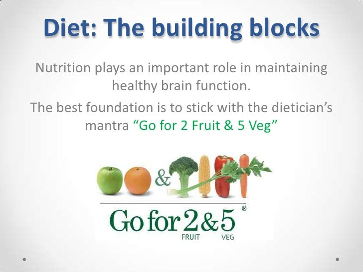 Diet: The building blocks <br />Nutrition plays an important role in maintaining healthy brain function.<br />The best fou...