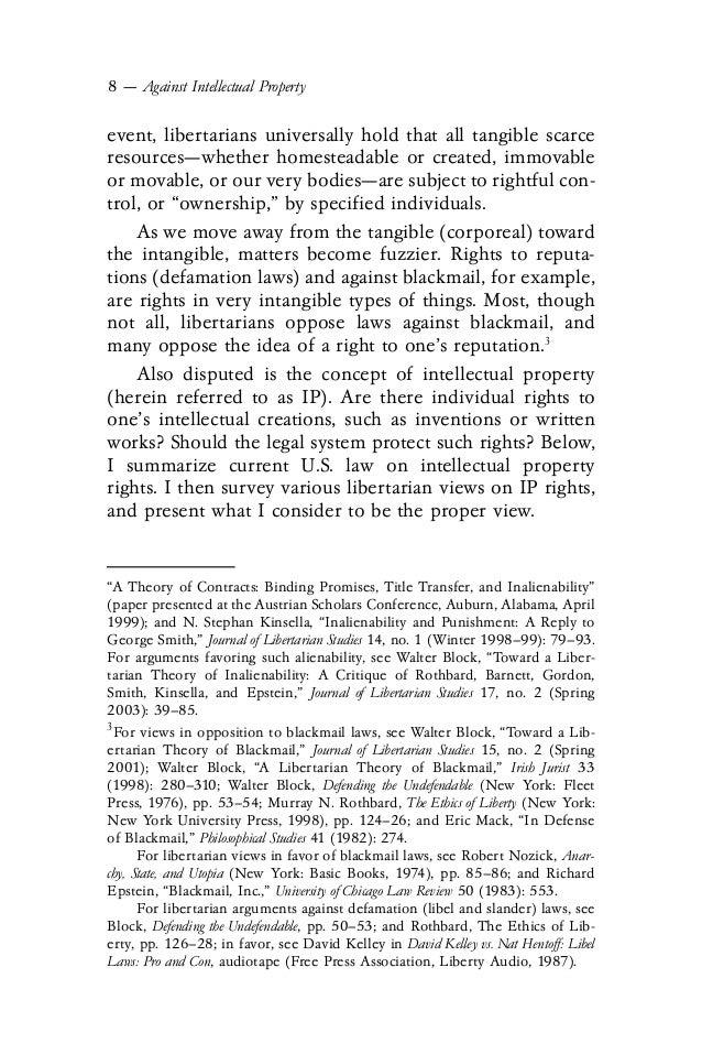 Arguments Against Intellectual Property Laws