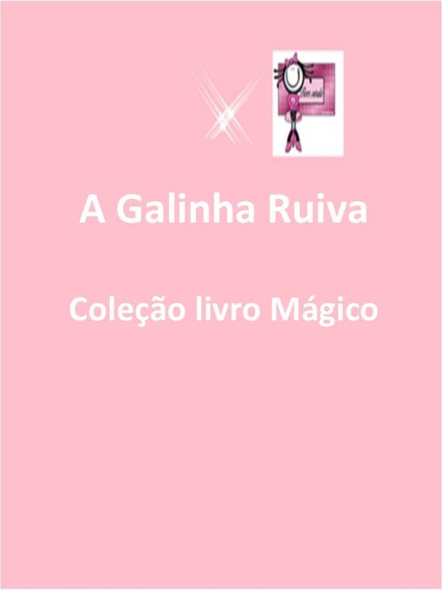Álbum de fotografias por Copyright Original A Galinha Ruiva Coleção livro Mágico