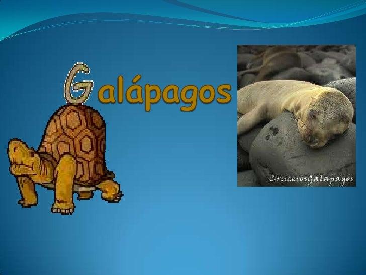 Las islas Galápagos (también islas delos Galápagos yoficialmente archipiélago de Colón)constituyen un archipiélago del océ...