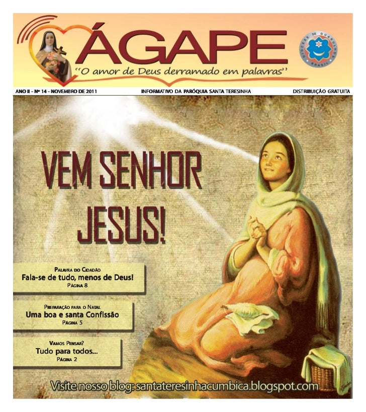 NOVEMBROANO II - Nº 14 - NOVEMBRO DE 2011    INFORMATIVO DA PARÓQUIA SANTA TERESINHA                                     I...