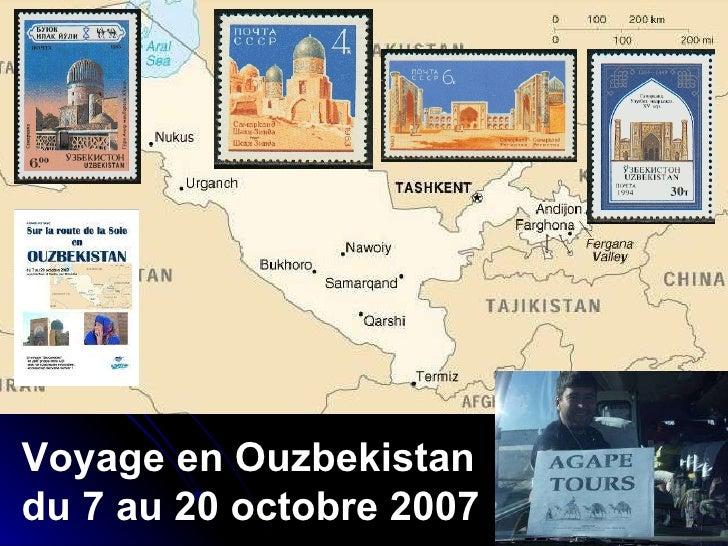 Voyage en Ouzbekistan du 7 au 20 octobre 2007