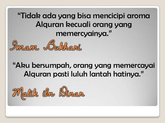 Agar Al Quran Menjadi Teman