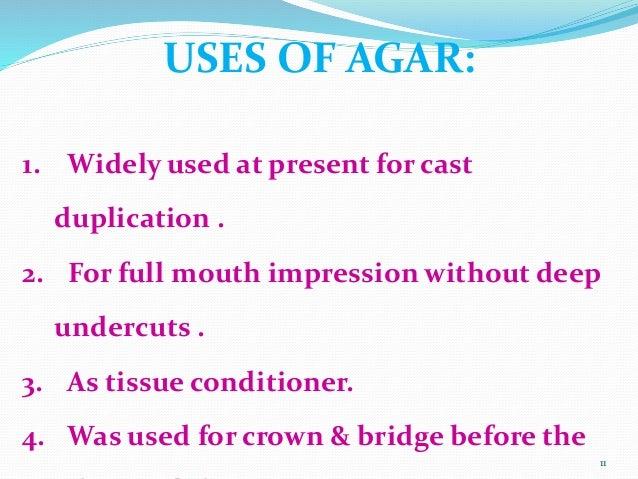 Agar alginate