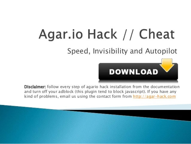 Agario Hack // Small Cheat For Invisibility and Speed on