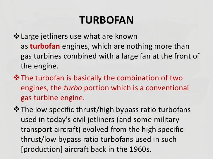 turbofan engine advantages and disadvantages pdf