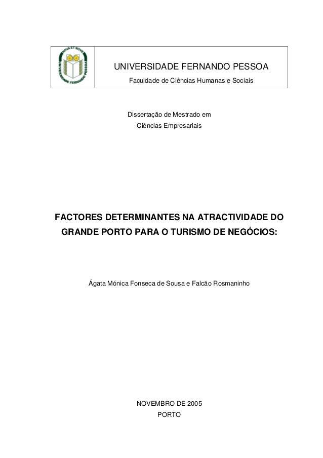 UNIVERSIDADE FERNANDO PESSOA Faculdade de Ciências Humanas e Sociais  Dissertação de Mestrado em Ciências Empresariais  FA...