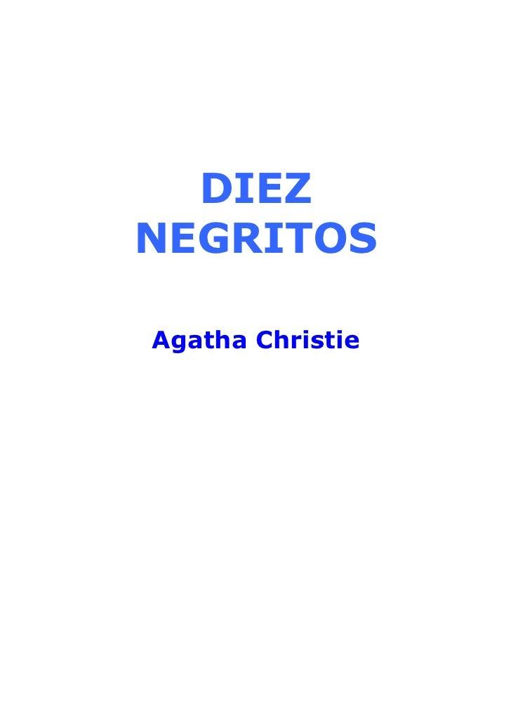 DIEZNEGRITOSAgatha Christie