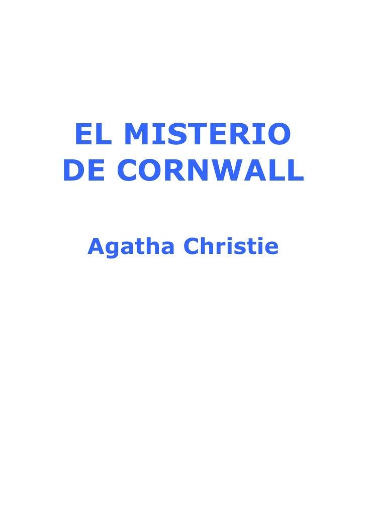 EL MISTERIO DE CORNWALL   Agatha Christie