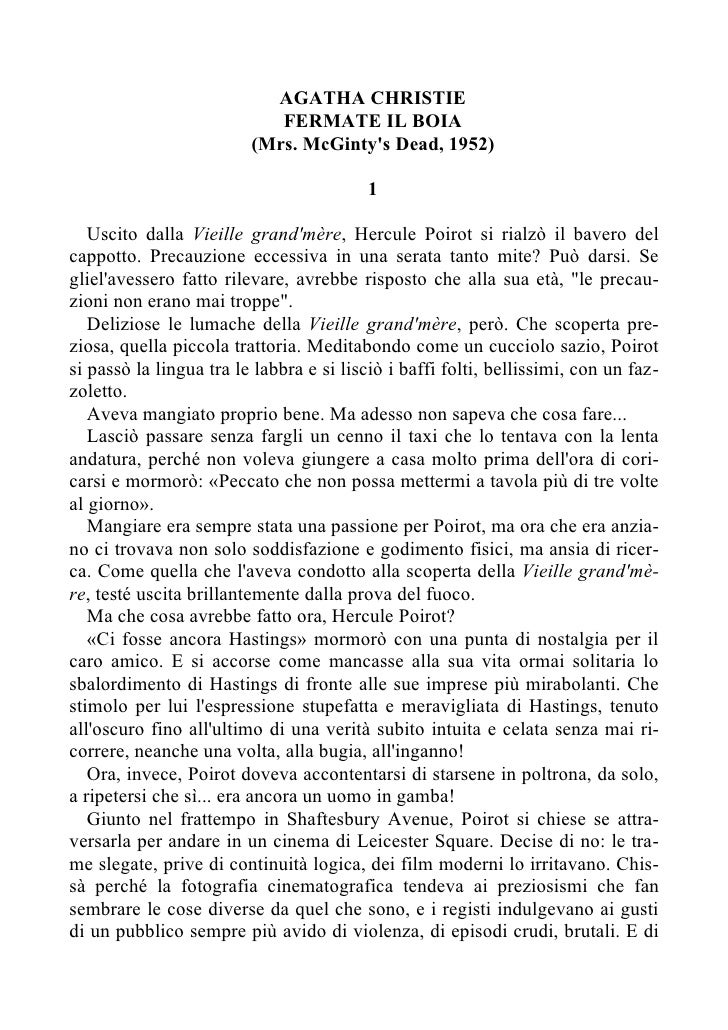 AGATHA CHRISTIE                             FERMATE IL BOIA                          (Mrs. McGinty's Dead, 1952)          ...