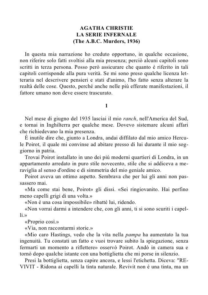 AGATHA CHRISTIE                           LA SERIE INFERNALE                          (The A.B.C. Murders, 1936)     In qu...
