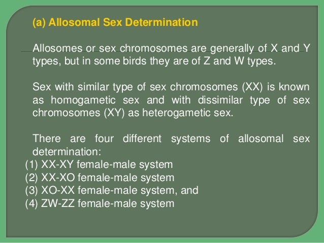 difference between chromosomal and environmental sex determination in Mackay