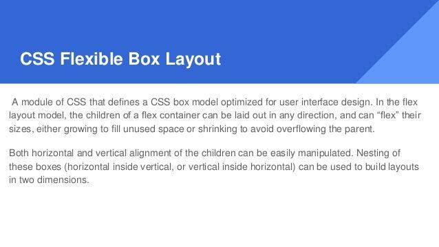 Understanding the flex layout