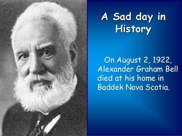 the history of the telephone and alexander graham bell Alexander graham bell was born in edinburgh, scotland, on march 3, 1847 when he was only eleven years old, he invented a machine that could clean wheat graham studied anatomy and.