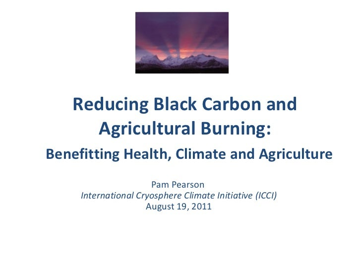 Reducing Black Carbon and     Agricultural Burning:Benefitting Health, Climate and Agriculture                      Pam Pe...