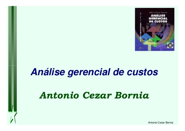 Antonio Cezar Bornia Análise gerencial de custos Antonio Cezar Bornia