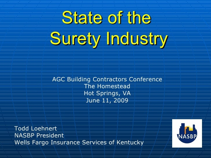 State of the Surety Industry
